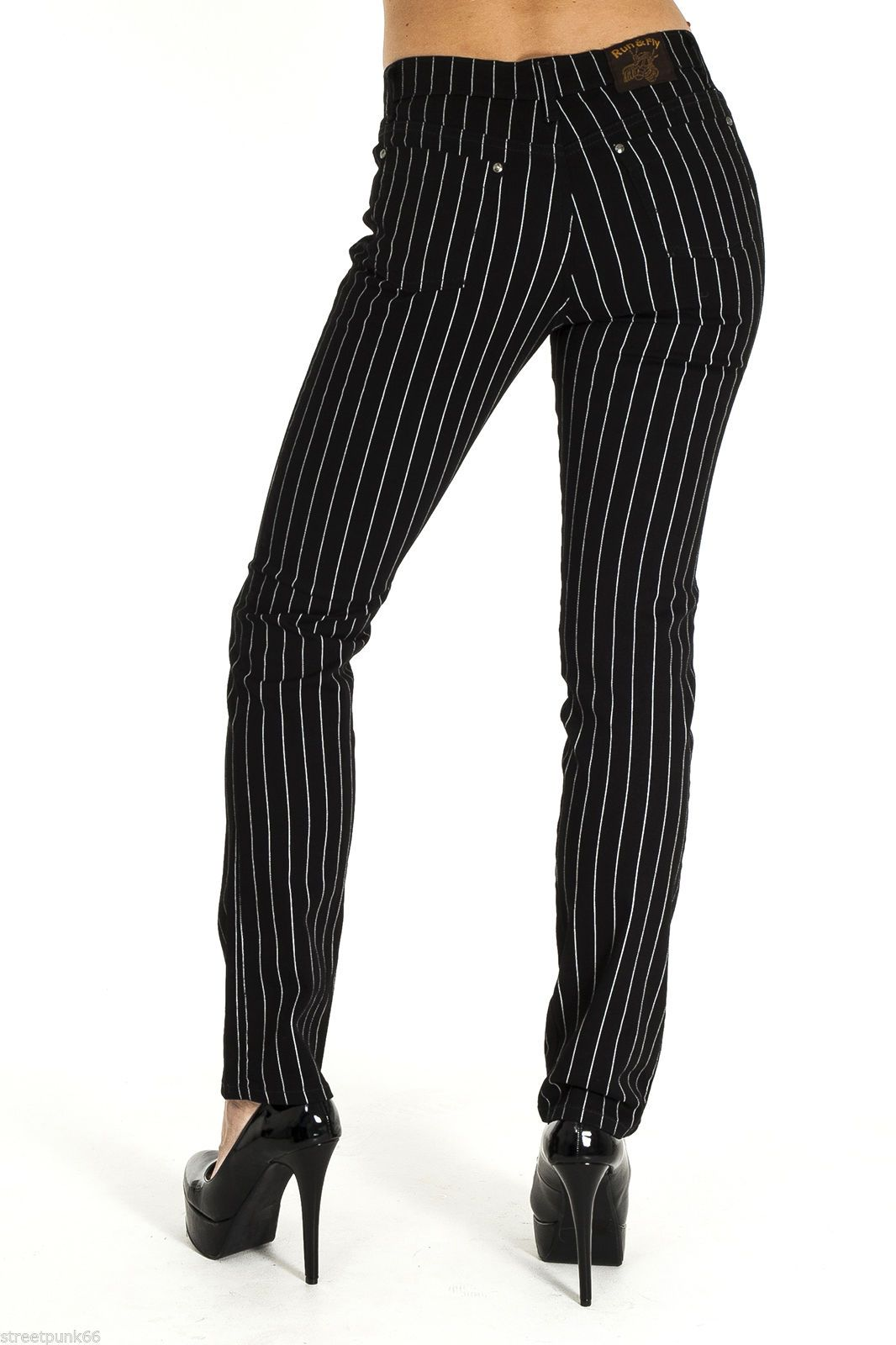 Womens Striped Jeans